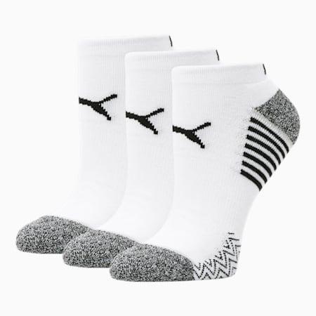 Socquettes, femme [paquet de 3], BLANC/NOIR, petit